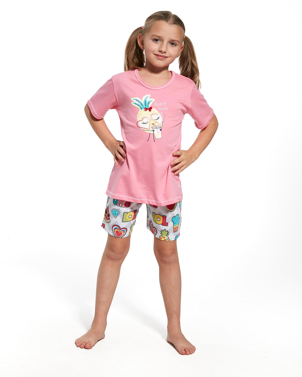 ff5192b0ca038d Piżama Cornette Kids Girl 787/55 Lemonade kr/r - Bielizna dziecięca ...