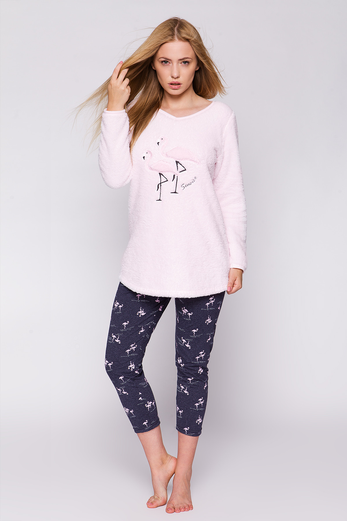 4ca4040c4f80a7 Piżama Sensis Soft Flaming+legginsy dł/r - Bielizna damska - piżamy ...