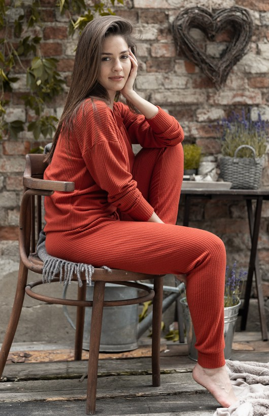 Piżama Sensis Orange Woman dł/r S-XL